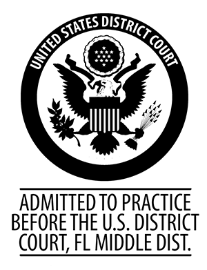 Admitted to Practice Before the US District Court, FL Middle Dist.